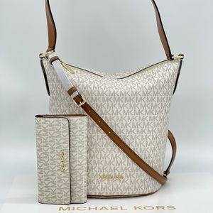 Michael Kors Brooke Medium Bucket & Trifold Wallet